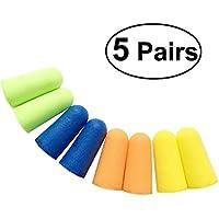 UEETEK 5 pares de espuma suave tapones de oídos esponja tapones para los oídos Ear Keeper Protector Travel Sleep reductor de ruido