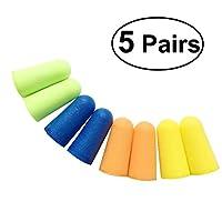 UEETEK 5 Paar Schaum Weiche Ohrstöpsel Schwamm Ohrstöpsel Ohrstöpsel Keeper Schutz Reise Schlaf Noise Reducer(zufällige Farbe)