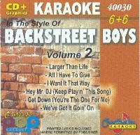 Karaoke: Backstreet Boys 2 by CB (Boys Karaoke-cds Backstreet)