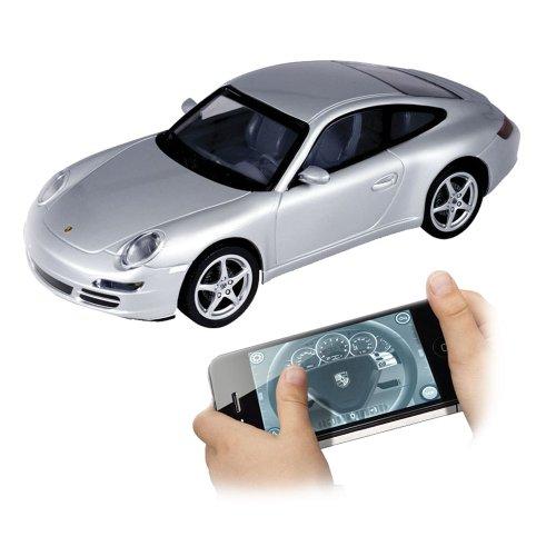 Preisvergleich Produktbild 86068 Silverlit Porsche 911 Carrera ferngesteuert Lizenzfahrzeug über I-Phone 1:16 Maßstab