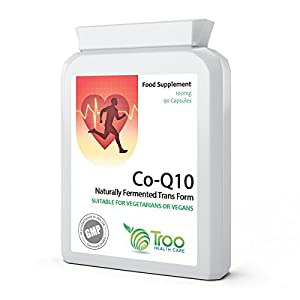 41xEL9cXllL. SS300  - Co-Enzyme Q10 Supplement (CoQ10) - 100 milligrams 90 Vegetarian Capsules - Naturally Fermented Trans Form for High Absorption - UK Manufactured to GMP Standards