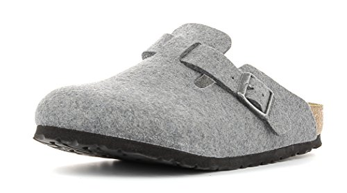 Birkenstock Boston Unisex-Erwachsene Clogs Grey
