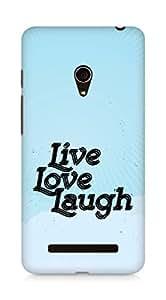 Amez Live Love Laugh Back Cover For Asus Zenfone 5