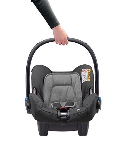 Maxi-Cosi Citi Babyschale (in Kombination mit allen Maxi-Cosi und Quinny-Kinderwagen und Buggys flexibel einsetzbar, Leichtgewicht und für das Flugzeug zugelassen, Gruppe 0+, bis 13 kg) concrete grey
