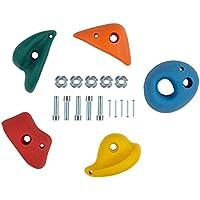 Ultrakidz Presas de escalada en set de 5 unidades, tamaño S, M o L, de varios colores, para interiores y exteriores, para niños y adultos, M