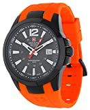 Swiss Alpine Military by Grovana Reloj de hombre Naranja 7058.1879 10 ATM Swiss Made