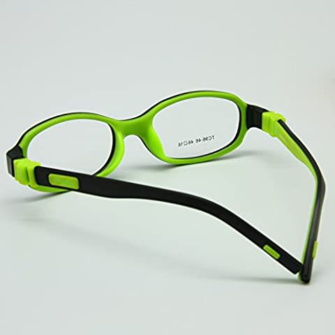 enzodate niños TR90gafas de óptico–plegable, gafas, tornillo, & silicona marco seguro Flexible, tamaño