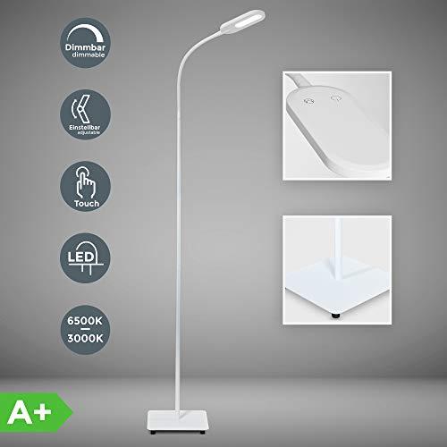 LED Stehlampe weiß dimmbar I inkl. 8W 600lm LED Platine I Stehleuchte I 3000K - 6000K warmweiß - kaltweiß | memory & Touch Funktion