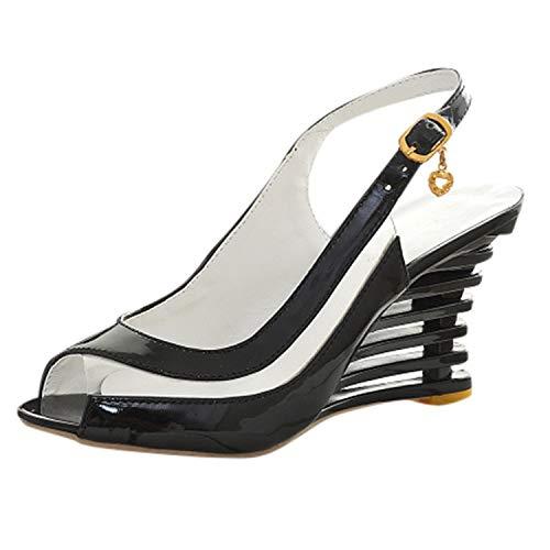 ♥ Loveso♥ Damen Pumps Plateau Sandaletten Fashion Abend Sandaletten High Heels Pumps Slingbacks Peep Toes Party Schuhe Bequem Casual Peep Toe Slingback Heels Schuhe
