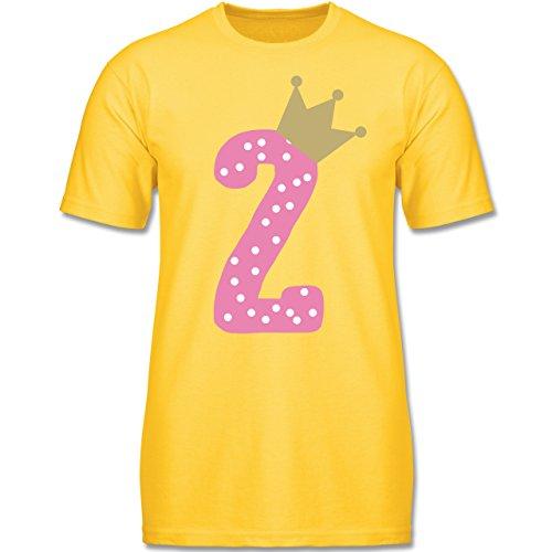 Geburtstag Krone Mädchen - 92 (1-2 Jahre) - Gelb - F140K - Jungen T-Shirt (Princess 1. Geburtstag)