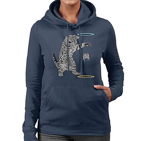 Portal Cat Get That Mouse Women's Hooded Sweatshirt