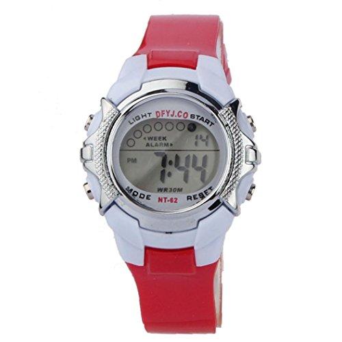 Neue Schmetterlings-mädchen-strumpfhose (Uhr Uhren Sportuhr armbanduhr DAY.LIN Mode Kinder Digital LED Quarz Alarm Datum Sport Armbanduhr (E))