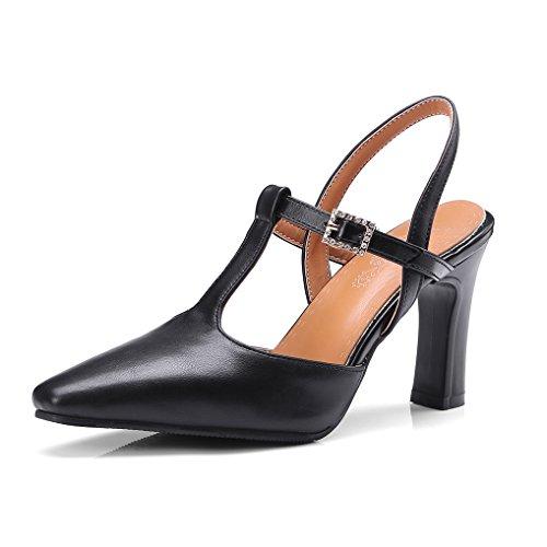 b8c1c59c7ff84c OALEEN Escarpins Salomé Femme Talon Haut Bride Arrière Strass Chaussures  Sandales Soirée