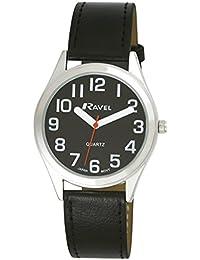 Ravel - R0125.03.1 - Montre Mixte - Quartz Analogique - Bracelet Plastique Noir