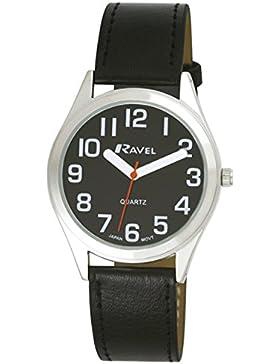 Ravel, R0125.03.1 Unisex Armbanduhr, Quarzwerk, analog, Armband aus Kunststoff, Schwarz