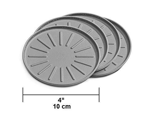 Weathertech Universal Untersetzer|Antirutsch|Kratzfest| Undurchlässig |Set aus 4 Stück je 10 cm |Grau|Made by -