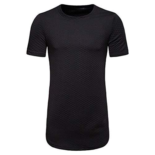 Preisvergleich Produktbild Herren T-Shirt Top Sweatshirt Pullover Rundhals Kurzarm Shirt Hoodie Sweatshirt Runder Kragen Kurzarm Langarm Langarmshirt Basic Shirt Rundhalsausschnitt Vintage Sweatshirt