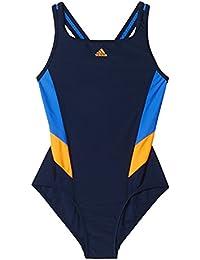Adidas I Ins 1Pc G Bañador, Niñas, (Maruni/Azul), 128