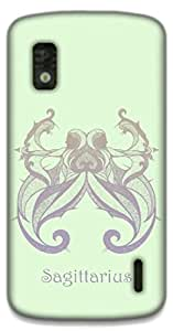 The Racoon Grip Sagittarius hard plastic printed back case / cover for LG Nexus 4