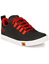 Lavista Men's Black Synthetic Leather Casual Shoe.