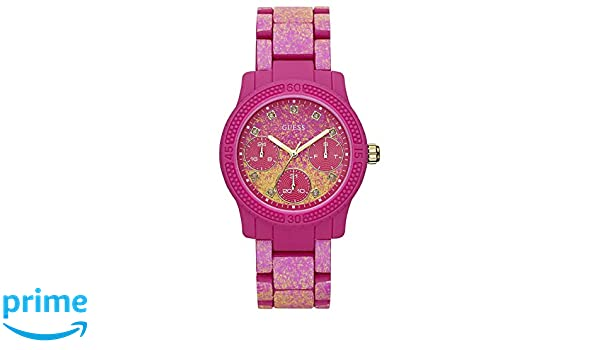 0e00a487c790 Guess Womens Funfetti Pink W0944L3  Amazon.co.uk  Watches