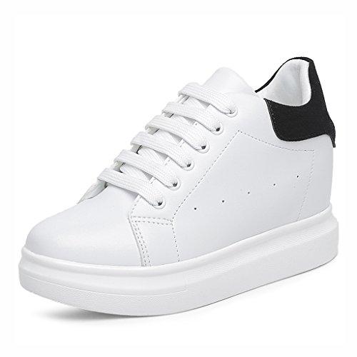 Chaussures femme HWF Chaussures de Sport Femme Muffin Bottom Blanc Lycée Junior Lycée Été