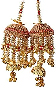 Geetanjali Handmade Traditional Wedding Kalira/kalere/kaleera/Bridal Hand Hanging Kalira Set of 2(Pair) for Br