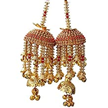 Geetanjali Handmade Traditional Wedding Kalira/kalere/kaleera/Bridal Hand Hanging Kalira Set of 2(Pair) for Brides, Women and Girls.8403