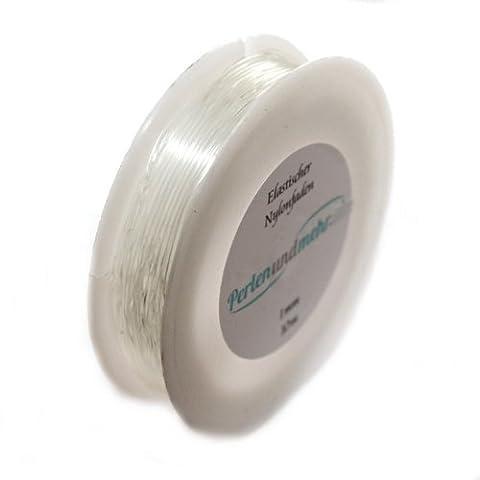 Armband Gummiband elastisch weiß (16003) 1mm 10m lang