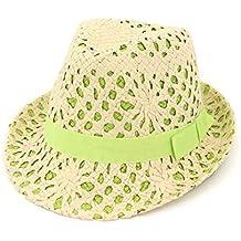 AREDOVL Sombrero de Paja para Mujer Sombrilla de Verano Sombrero para el Sol  Sombrero al Aire 178e798aafe