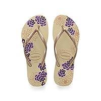 Havaianas Women's Slim Organic Flip Flop Sandal, Sand Grey, 37/38 BR (7-8 M US)