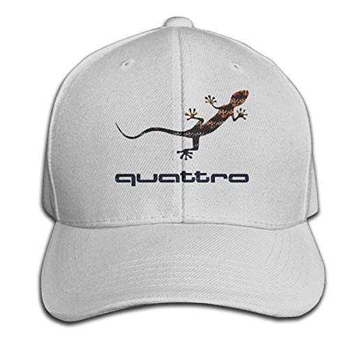Audi Quattro Gecko Logo Adjustable Peaked Baseball Caps Hats Duck Tongue Hat ()