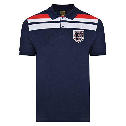 Official Retro England 1982 Empire Navy Polo shirt