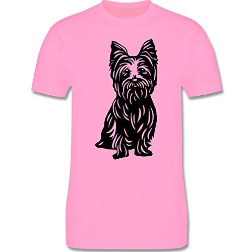 Hunde - Yorkshire Terrier - Herren Premium T-Shirt Rosa
