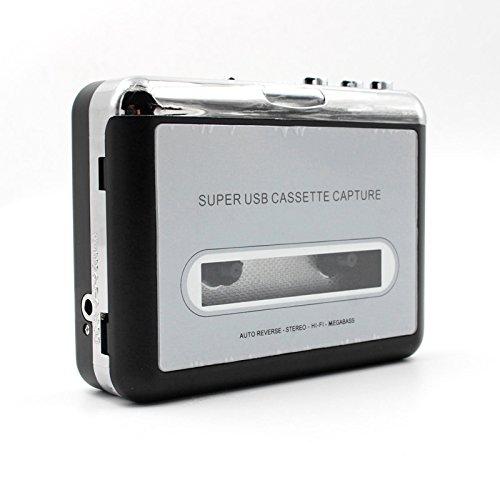 SNOWINSPRING Tape zu PC Super USB Kassetten-zu-MP3 Capture Audio Music Player CD Konverter (Kassette-zu-usb-konverter)