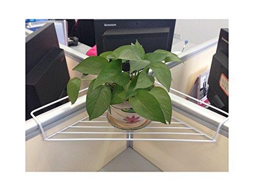 Panpa creativo scaffale per piante da esterno in filo di ferro con vaschette portaoggetti e scaffali portaoggetti per ufficio (40x28x5cm)