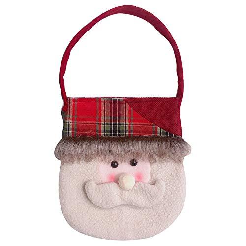 Zolimx Weihnachtsgeschenk-Tasche Santa-Tragetasche Weihnachten Dekoration Kreative Home Party Weihnachtstasche Souvenir Candy Gift Bag (A)