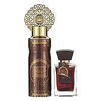 Arabiyat Khasb Al Oud Perfume Gift Set For Unisex, Eau De Parfum, 100 ml + Deodorant, 200 ml