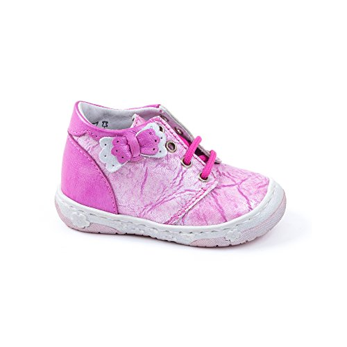 Boots à lacets MASCOTTE fushsia - Little Mary Rose