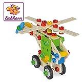 Eichhorn 100039053 - Hubschrauber 120-teilig Holz-Konstruktions-Set, 5 verschiedene Modelvarianten baubar, FSC 100%