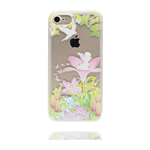 "iPhone 7 Hülle, Skin harte freie Handyhülle iPhone 7, fee Glitter Bling Transparent Hard Clear funkelt Shinny fließend, Apple iPhone 7 Case Cover 4.7"", Schock-bestän und Ring Ständer # 5"