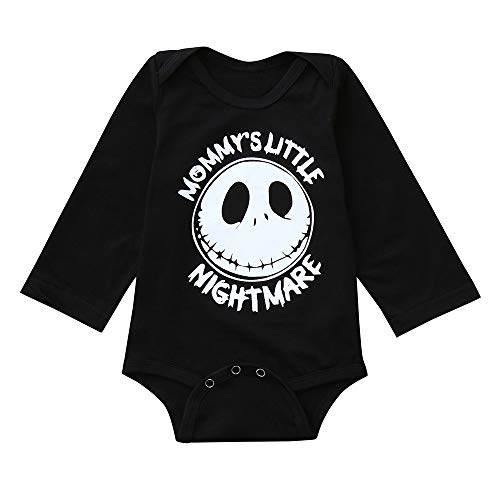 togel Baby-Anzug Halloween Kleinkind Baby Long Sleeves Cartoon Grimasse Brief Print Strampler Overall Blumen Langarm niedlich Casual Ärmel Kleid weiße Hose Unisex Striped Print Charakter