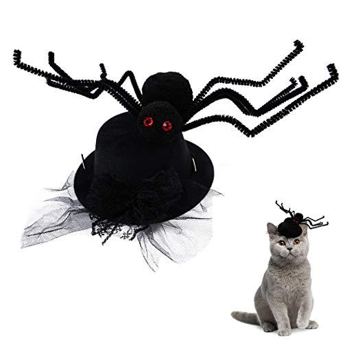 Legendog Halloween Haustier Hut Spinnen Dekorativer Hundekatzen Party Hut Haustier Kostüm Hut
