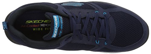 Skechers Herren Flex Advantage 2.0-Golden Point Sneaker Marineblau/Blau