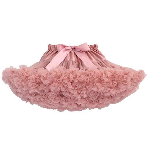 Mit Verheiratet Kinder Kostüm - DoGeek Tüllrock Kinder Tütü Rock Kurz Ballet Tanzkleid Unterkleid Cosplay Petticoat Kleid Zubehör,Bohnenrosa