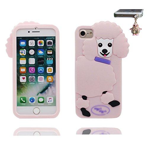 "iPhone 6 Plus Hülle, 3D Cartoon Shiba inu Dog Cover iPhone 6s Plus handyhülle (5.5 zoll) flexible TPU Shell iPhone 6 Plus case (5.5""), Staub Rutsch kratzfest & Staubstecker # 3"