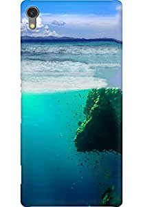 AMEZ designer printed 3d premium high quality back case cover for Sony Xperia C670X (Fish Coast Sea Underwater Rock)