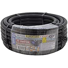S&M 012211 - Tubería polietileno alimentario, 20 x 10 atm - 25 m, color negro