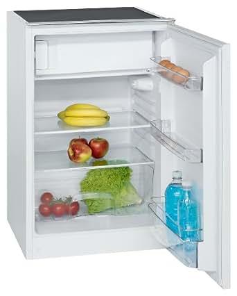 Bomann KSE 327 Kühlschrank / A++ / 87.5 cm Höhe / 135 kWh/Jahr / 112 Liter Kühlteil / 1 höhenverstellbare Glasablage / 1 transparente Gemüseschale mit Glasabdeckung / weiß