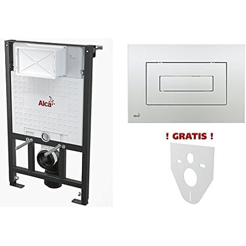 WC pretesto element per costruzioni a 120 cm con finitura cromata lucida a forma di cubo kerabad tipo intonaco da parete WC sospeso suono protezione